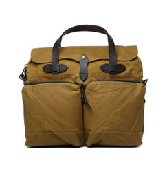 Filson Dark Tan 24 Hour Tin Briefcase