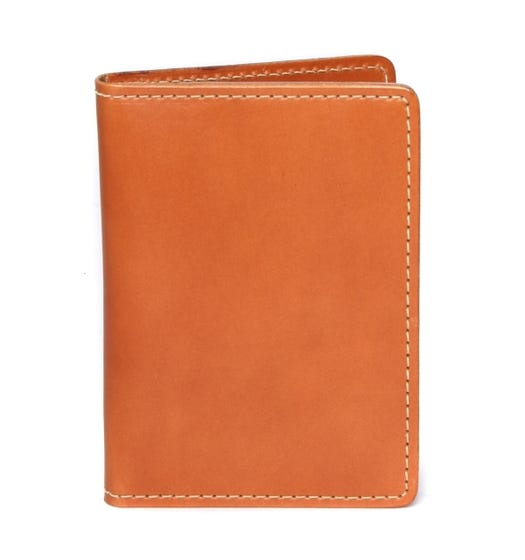 Filson Tan Bridle Leather Passport & Card Case