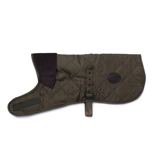 Barbour Green Quilted Fleece Lined Dog Coat