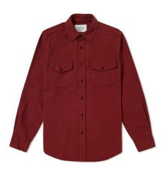 Portuguese Flannel Campo Bordeaux Red Overshirt
