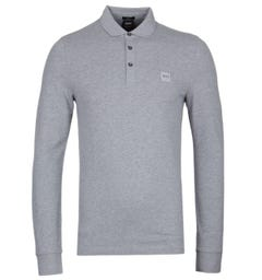 BOSS Passerby Slim Fit Grey Polo Shirt