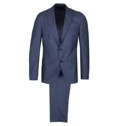 BOSS Johnston Blue Wool Suit