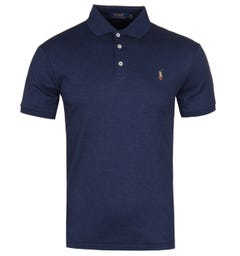 Polo Ralph Lauren Slim Fit French Navy Pima Polo Shirt