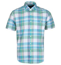 Polo Ralph Lauren Blue Indian Madras Short Sleeve Shirt