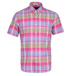 Polo Ralph Lauren Pink Indian Madras Short Sleeve Shirt