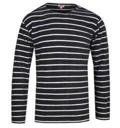 Armor Lux Striped Basic Black & White Sweatshirt