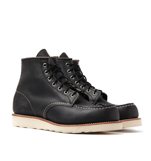 """Red Wing 8890 Classic 6"""" Moc Charcoal Rough & Tough Boots"""