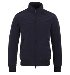 Emporio Armani Dark Blue Padded Harrington Jacket