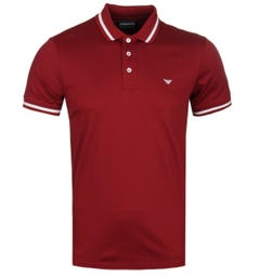 Emporio Armani Tipped Red Polo Shirt