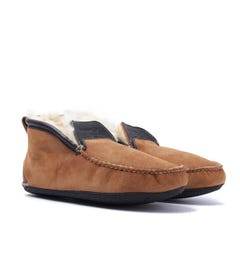 Quoddy Chestnut Brown Dorm Boot Slippers