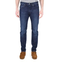 Edwin ED-55 Kingston Blue Denim Mid Coal Regular Tapered Jeans