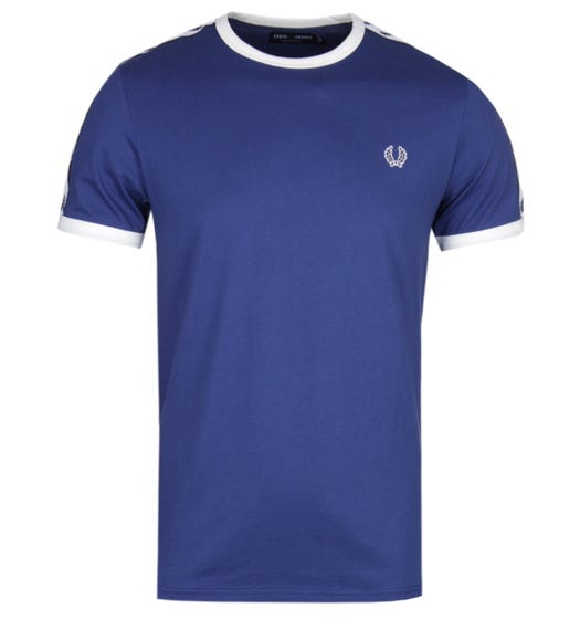 Fred Perry Taped Ringer Blue T-Shirt