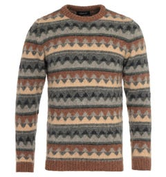 Howlin Mind Landscapes Tobacco Sweater