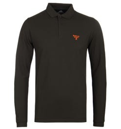 Barbour Beacon Forest Green Long Sleeve Polo Shirt
