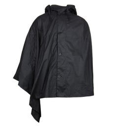 Barbour Button Up Black Hooded Cape