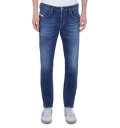 Diesel D-Bazer Tapered Fit Blue Wash Denim Jeans