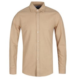 Portuguese Flannel Chemy Beige Long Sleeve Shirt