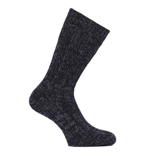 Birkenstock Tonal Black Cotton Twist Socks