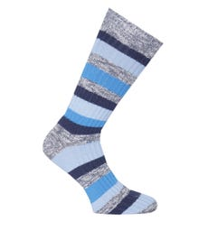 Birkenstock Blue Stripe Cotton Slub Socks