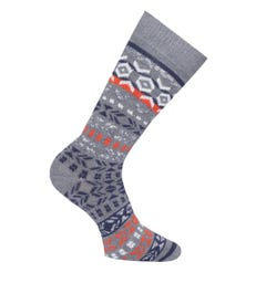 Birkenstock Cotton Grey Jacquard Socks