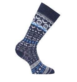 Birkenstock Cotton Navy Jacquard Socks