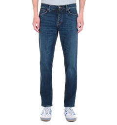Nudie Jeans Steady Eddie 2 regular Tapered Fit Dark Blue Rinse Denim Jeans