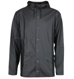 Rains Black Hooded Jacket