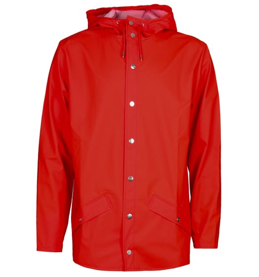 Rains Red Hooded Jacket