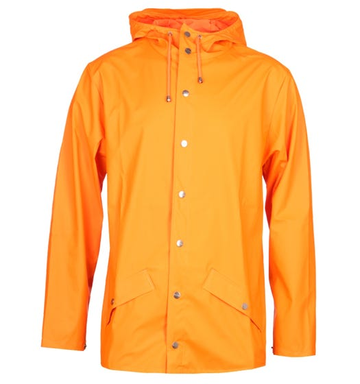 Rains Fire Orange Hooded Jacket