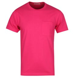 Nudie Jeans Co Ecru Kurt Pink Worker T-Shirt