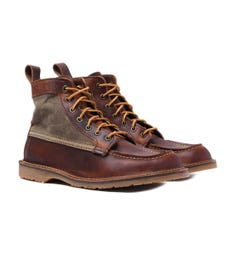"Red Wing 3335 Wacouta 6"" Moc Copper Rough & Tough Leather Boots"
