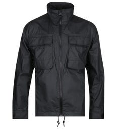BOSS Obaav Soft Shell Mesh Panel Black Jacket