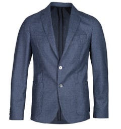 BOSS Nold Virgin Wool Ocean Blue Suit Jacket