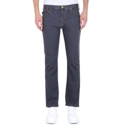 Emporio Armani Contrast Stitch J45 Regular Fit Grey Denim Jeans