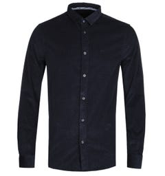 Armani Exchange Navy and White Small Dot Shirt