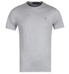 Polo Ralph Lauren Custom Slim Fit Grey Marl Pima T-Shirt