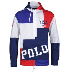 Polo Ralph Lauren Chariots Of Fire Red, Blue & White Windbreaker