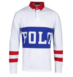 Polo Ralph Lauren Chariots of Fire White Rugby Shirt