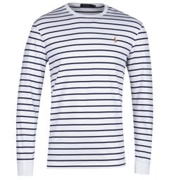 Polo Ralph Lauren Long Sleeve White & Black Stripe T-Shirt