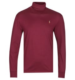 Polo Ralph Lauren Soft Touch Burgundy Turtle Neck Sweater