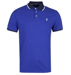 Polo Ralph Lauren Custom Slim Fit Royal Blue Knit Polo Shirt