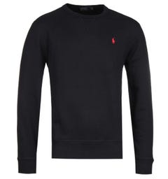 Polo Ralph Lauren Logo Fleece Black Sweatshirt