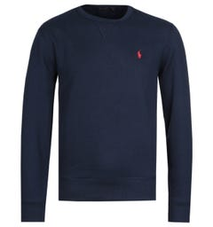 Polo Ralph Lauren Logo Fleece Navy Sweatshirt
