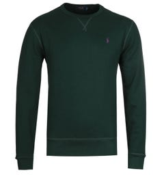 Polo Ralph Lauren Logo Fleece Forest Green Sweatshirt