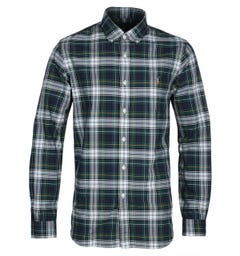 Polo Ralph Lauren Custom Fit Green Tartan Shirt