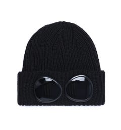 CP Company Large Goggle Black Knit Beanie