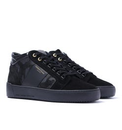 Android Homme Camo Suede Propulsion Mid Black Trainers