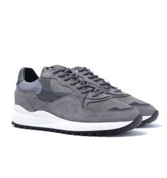 Android Homme Santa Monica Grey Stingray Suede Trainers