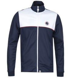 Pretty Green Contrast Panel Navy Track Top