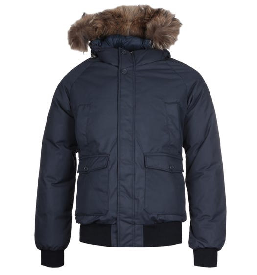 Pyrenex Mistral Raccoon Fur Navy Hooded Jacket